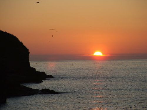 Fantastic sunset at Port Gaverne, Cornwall