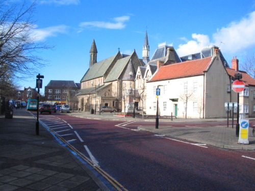 Bishop Auckland market place, Bishop Auckland, Durham.