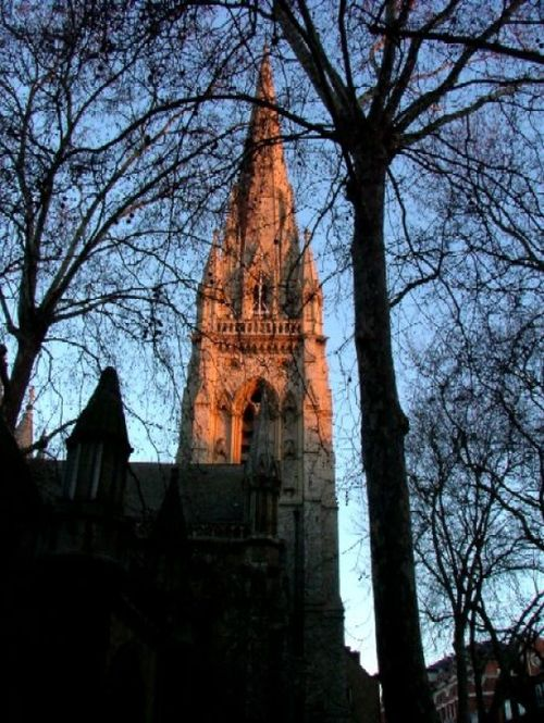 Kensington Church Spire, London.