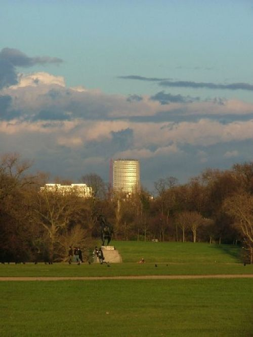 London Centre Point (Oxford Street) from Kensington Gardens