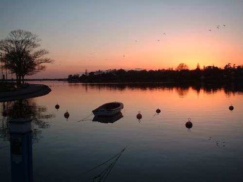 Sunset over Oulton Broad on the Norfolk Broads