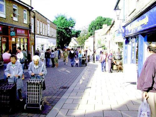 Thetford Pedestrian Shopping area. Thetford, Norfolk
