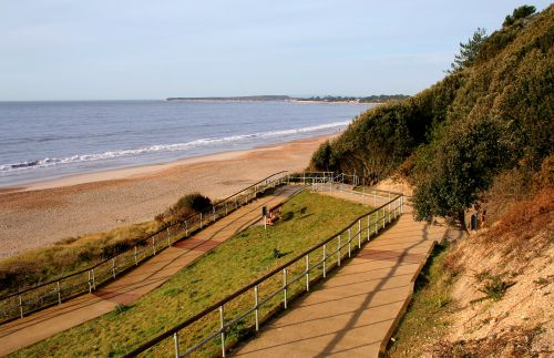 Zig Zag path leading down to Highcliffe beach, Highcliffe, Dorset
