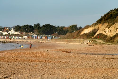 Looking towards Avon beach from Highcliffe beach, Highcliffe, Dorset