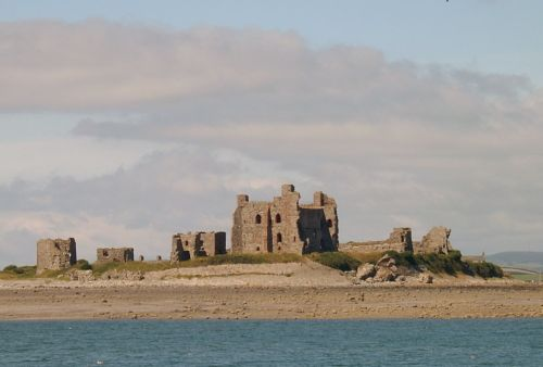 Piel Castle was built because of the Scottish raids in 1322