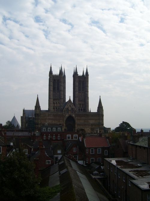 Lincoln Cathedral from Castle Ramparts, Lincoln