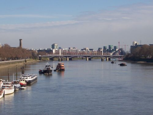 Chelsea Bridge - Viewed From Albert Bridge