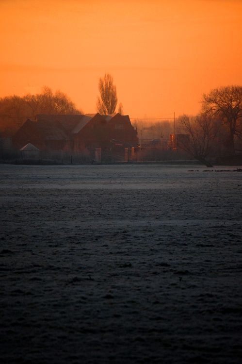 Sunrise over the Mill, Kingsbury Water Park, North Warwickshire.
