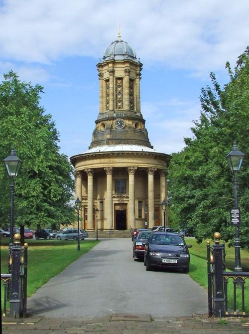 United Reformed Church at Saltaire, West Yorkshire.