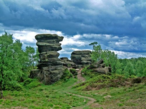 Brimham Rocks Country Park, North Yorkshire.