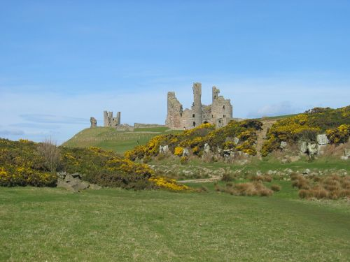 Dunstanburgh Castle, north of Craster in Northumberland