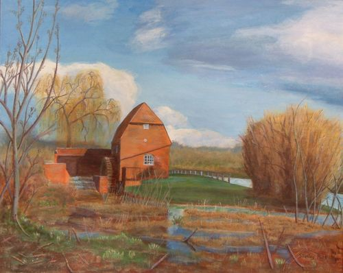 Cobham Mill, Surrey: A painting by Stanley Port