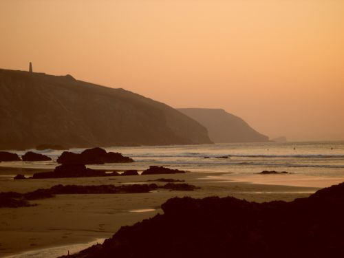 September sunset, Porthtowan, Cornwall