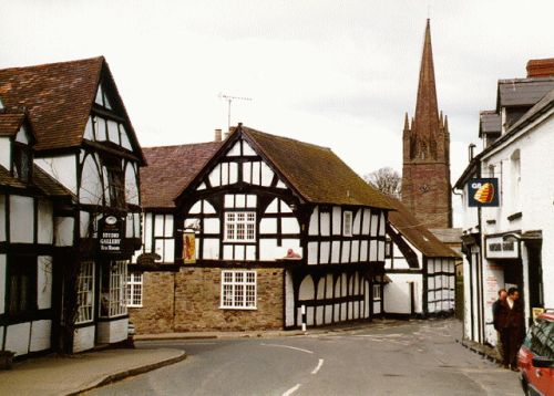 Weobley Church and Red Lion Pub, Weobley, Herefordshire