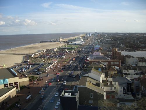 Great Yarmouth seafront, looking South.