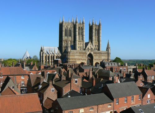 A lovely sunny day at Lincoln, and the famous view of the wonderful cathedral