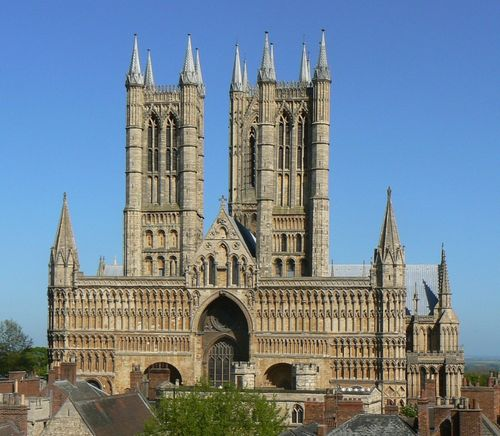 A lovely sunny day at Lincoln, and another famous view of the wonderful cathedral