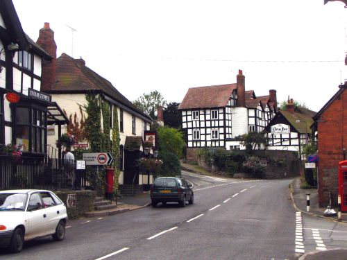 The New Inn Pembridge, Herefordshire on the A44.