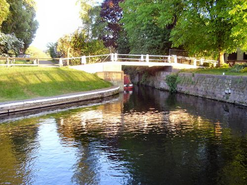The lock, Beeston(canal), Nottinghamshire.