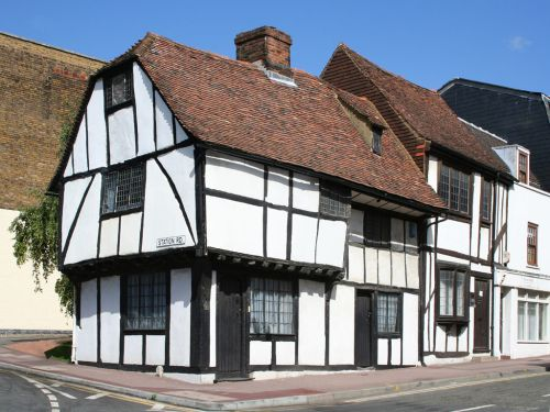 One of many old buildings in the town,opposite Brenchley gardens in Maidstone, Kent