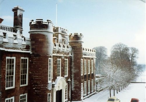 Knowsley Hall, Knowsley, the oldest surviving wing built in 1435.
