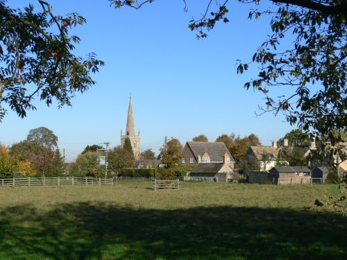 The village of Edith Weston, Rutland