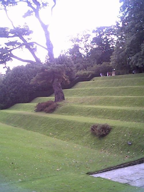 part of the amphitheatre at Dartington hall, Devon