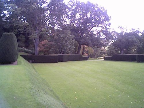 the outside theatre space at Dartington hall, Devon