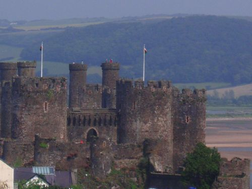 A view from Conwy Castle, North Wales