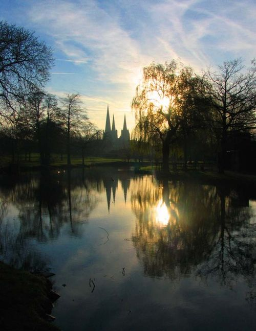 Sunrise in Beacon Park, Lichfield