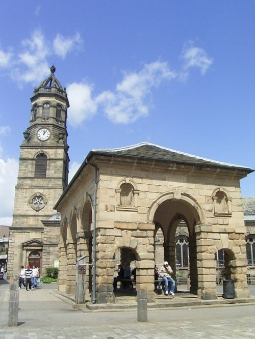 The Buttercross and St Giles.  Pontefract, West Yorkshire
