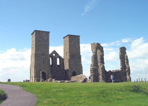 Reculver Towers and Roman Fort. Kent
