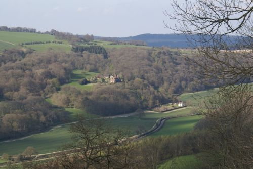 View from Croft Ambery Hill Fort in Herefordshire