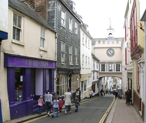 Quot Totnes Devon Old Shops And Arch Quot By Bpeters At