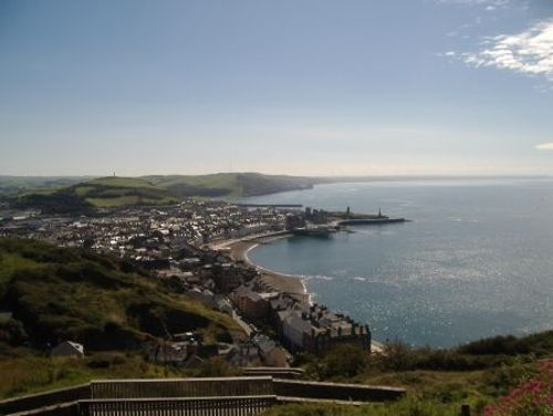 Looking over Aberystwyth