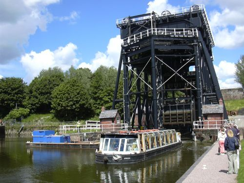 Anderton boat lift in Cheshire