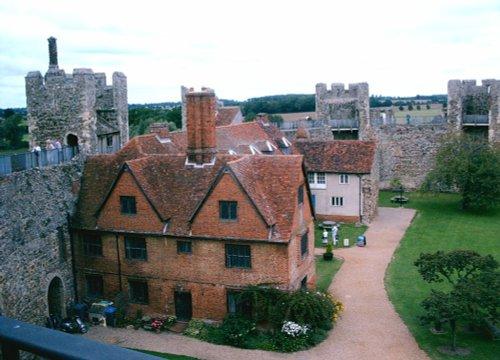 Overview Framlingham Castle, Framlingham in Suffolk