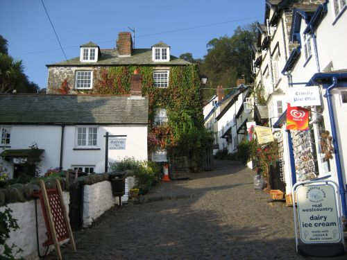 A steep climb, Clovelly, Devon