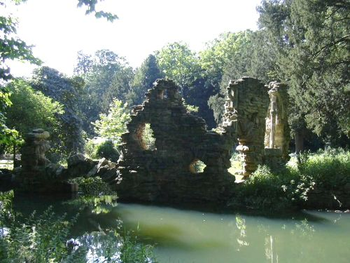Folly ruin in the grounds of Belton House in Belton, Lincolnshire