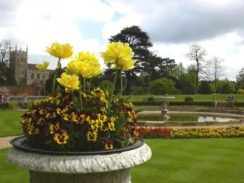 Urn in the Italian Garden at Belton House, Belton, Lincolnshire