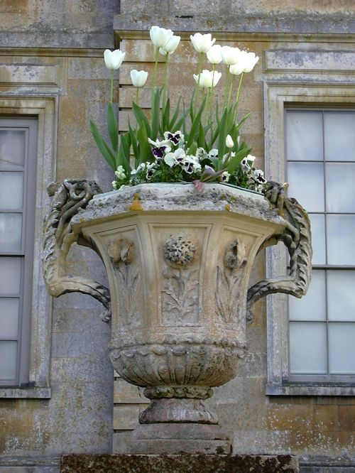 Urn near the house, Belton, Lincolnshire