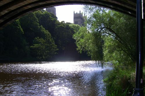View towards the Cathedral Twin Towers, Durham, County Durham