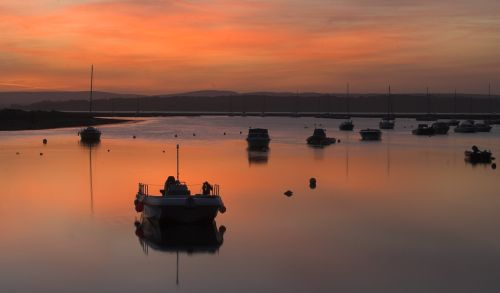 Sunrise at Keyhaven, Hampshire