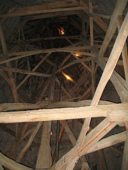 The framework of the spire
