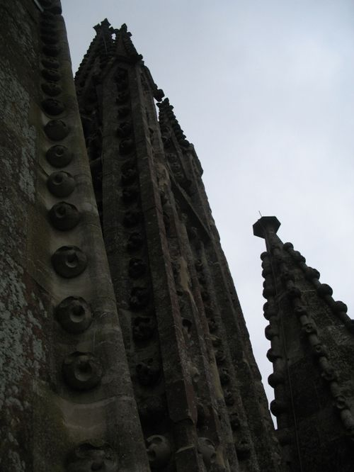 The pinnacles beneath the spire