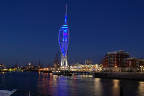 Portsmouth - Spinnaker Tower at Night