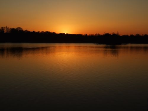 Sunset at Groby Pool, Leicestershire