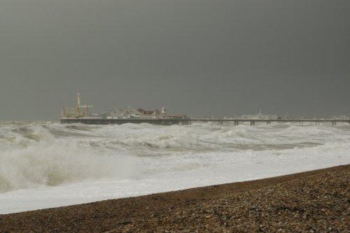 The test, Brighton Pier, East Sussex