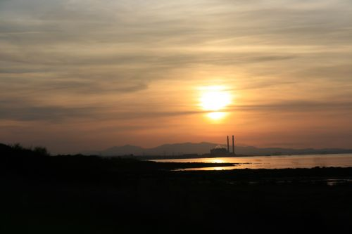 Sunset over PowerStation, North Berwick, East Lothian, Scotland