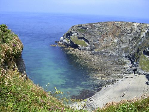 The Cliffs and Coast nr Portreath, Cornwall.